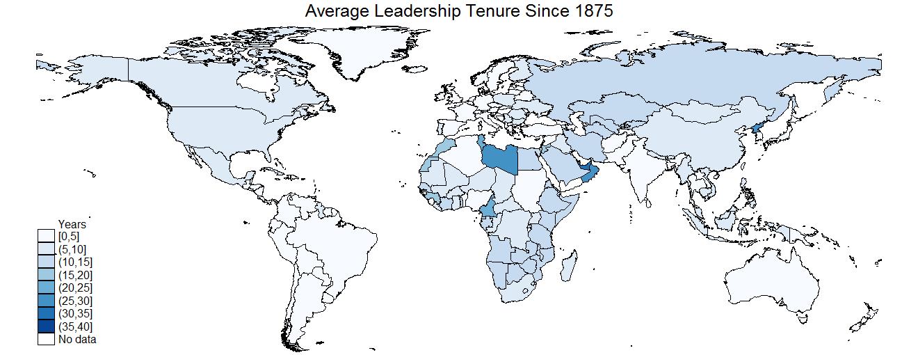 Mapping Leadership Tenure | The Quantitative Peace
